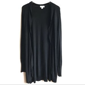 Ava & Viv Black Duster Cardigan Sweater Size 3X